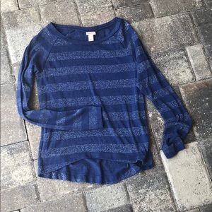 Mossimo supply co. Blue/silver thin sweater small
